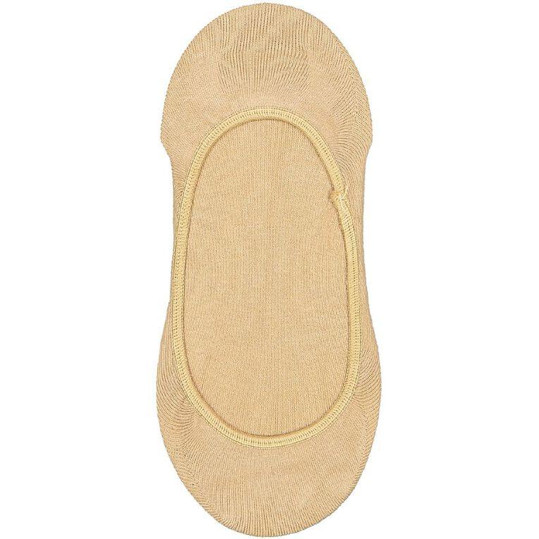 Underworks Women's Invisible Footlets 3 Pack, Beige, hi-res