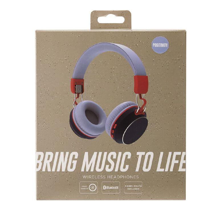 Positivity Wireless Headphones Blue/Red, , hi-res