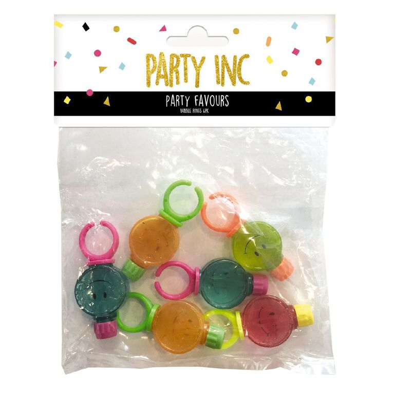 Party Inc Bubble Rings Mixed Assortment 6 Pack, , hi-res