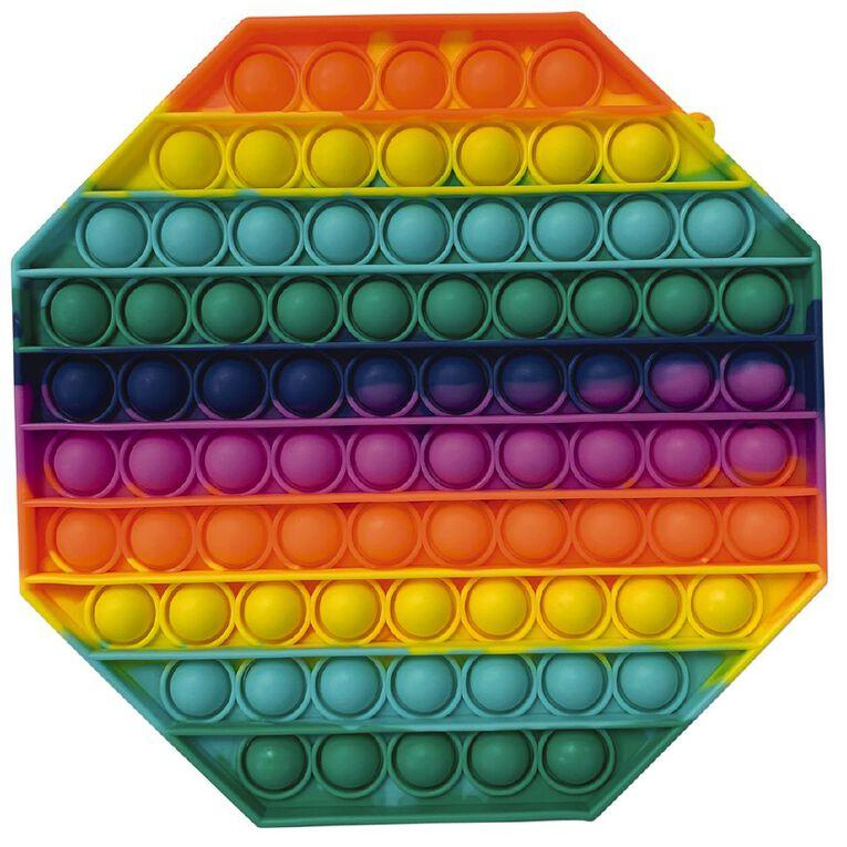 Fidget Pop-It Mega Rainbow Octagon, , hi-res