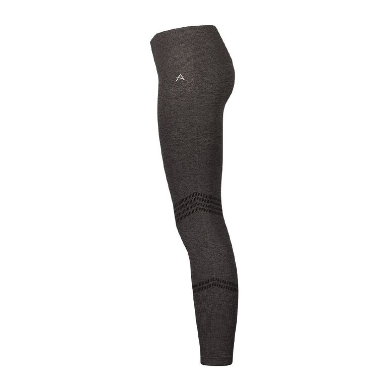 Active Intent Women's Seamless Marle Leggings, Charcoal, hi-res