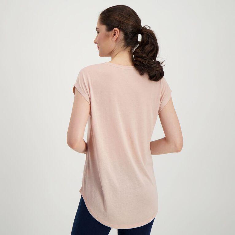 H&H Women's Print Crew Neck Tee, Pink Light, hi-res