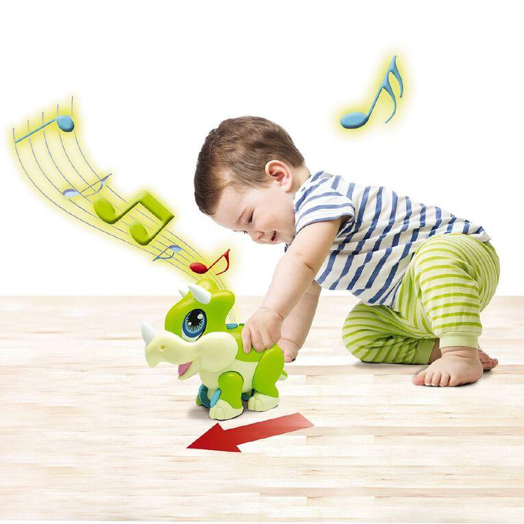 Junior Megasaur Push & Play Triceratops, , hi-res