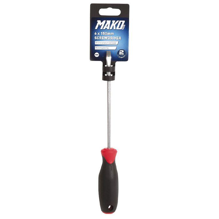 Mako Slotted Screwdriver 150mm, , hi-res