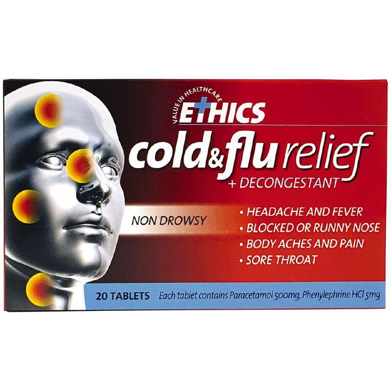 Ethics Cold & Flu Tablets 20s - LIMIT OF 1 PER CUSTOMER, , hi-res