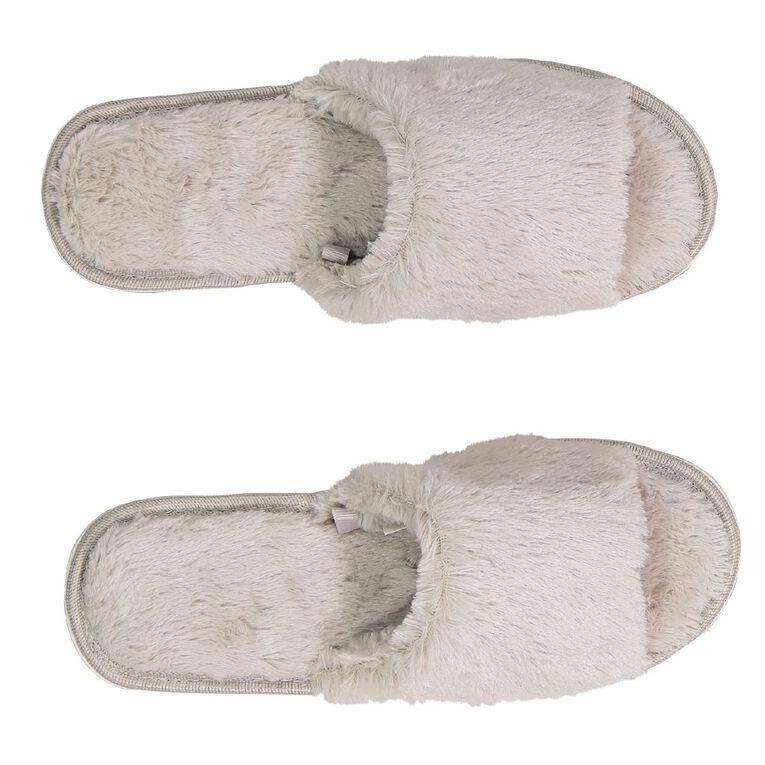 H&H Women's Mia Scuff Slippers, Grey, hi-res