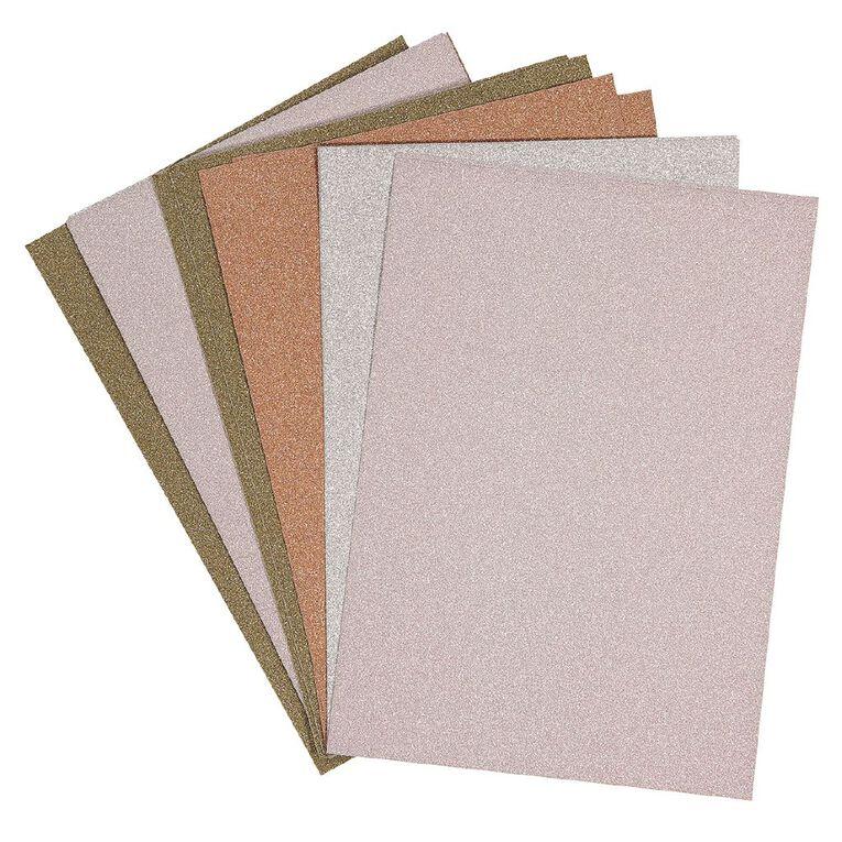 Uniti Value Cardstock Glitter 250gsm 12 Pack A4, , hi-res