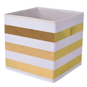 Living & Co Mason Cube Storage Insert Gold Stripe