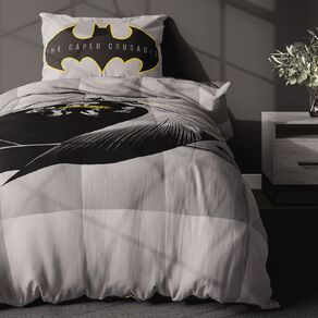 Batman Comforter Set Grey King Single