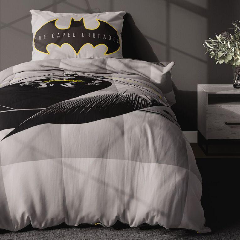 Batman Comforter Set Grey King Single, Grey, hi-res