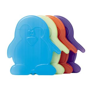 Living & Co Slim Kids' Freezer Blocks Penguin Assorted 4 Pack