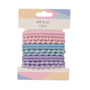Pastel Hair Tie Set 12 Pack