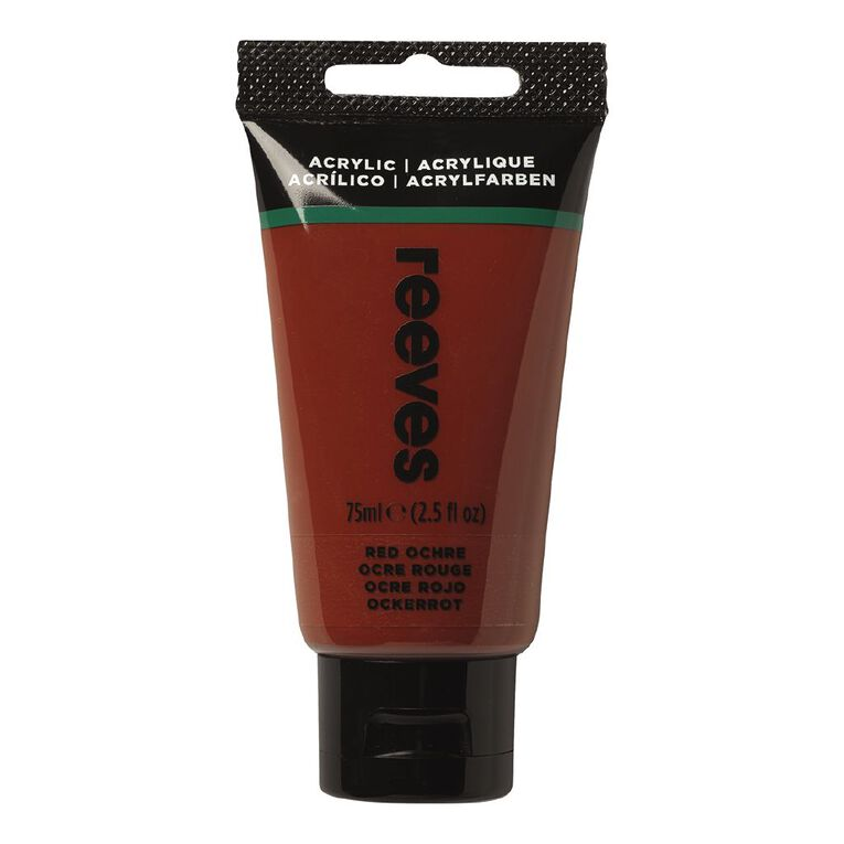Reeves Fine Acrylic 75ml Red Ochre 510 75ml, , hi-res
