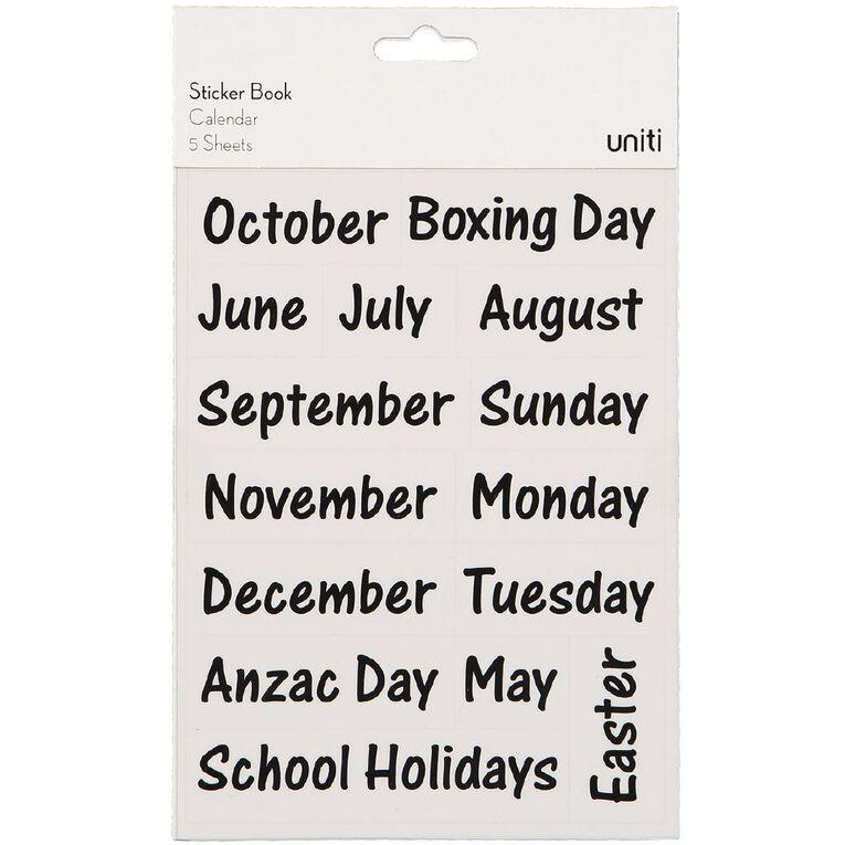 Uniti Sticker Book Calendar, , hi-res