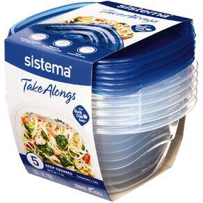 Sistema Take Alongs Deep Square 5 Pack 1.2L