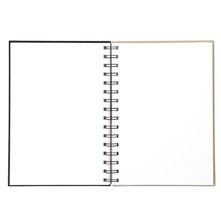 Uniti Visual Diary Spiral 110gsm 60 Sheet Black A5, , hi-res