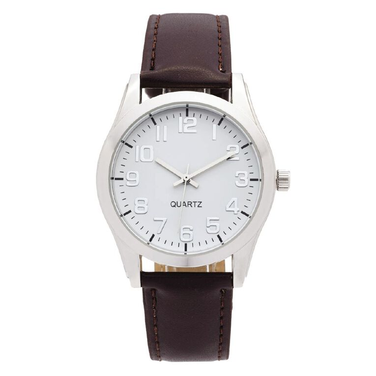 Eternity Men Classic Analogue Watch Brown White, , hi-res