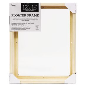 Jasart Floater Frame Thick Edge 12x16 Inches Natural
