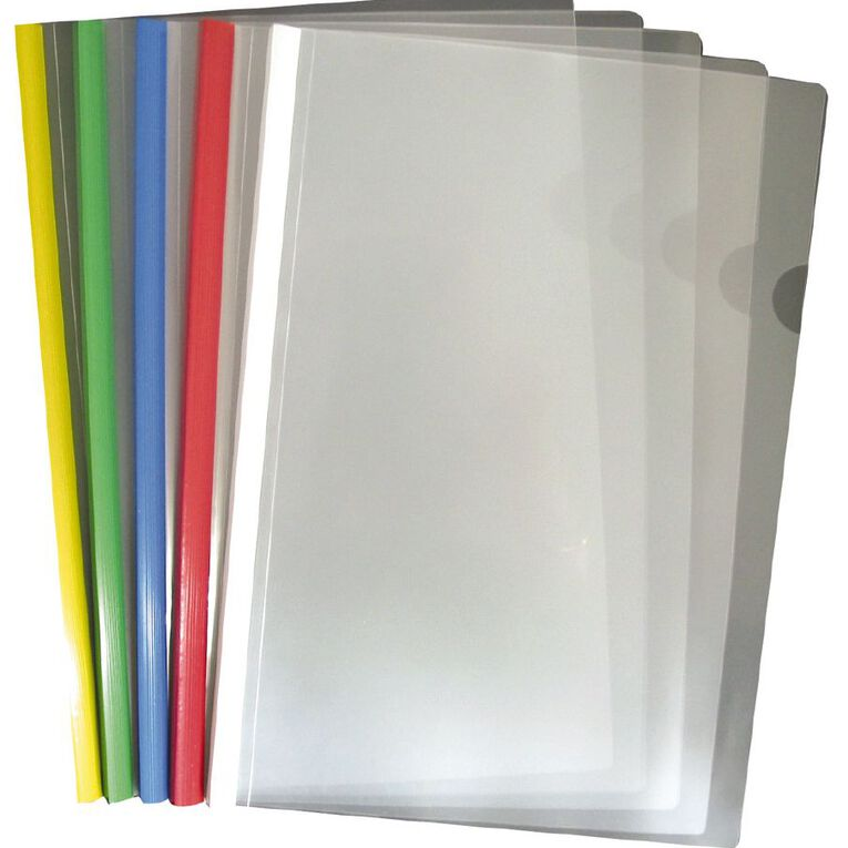 Office Supply Co Report Cover With Colour Spines 5 Pack Assorted A4, , hi-res