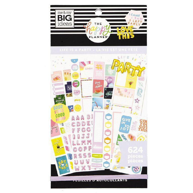 Me & My Big Ideas Sticker Book Life Is A Party, , hi-res