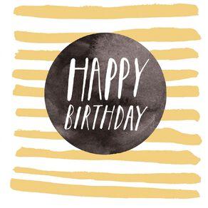 John Sands Birthday Card Foil Stripes with Ltg