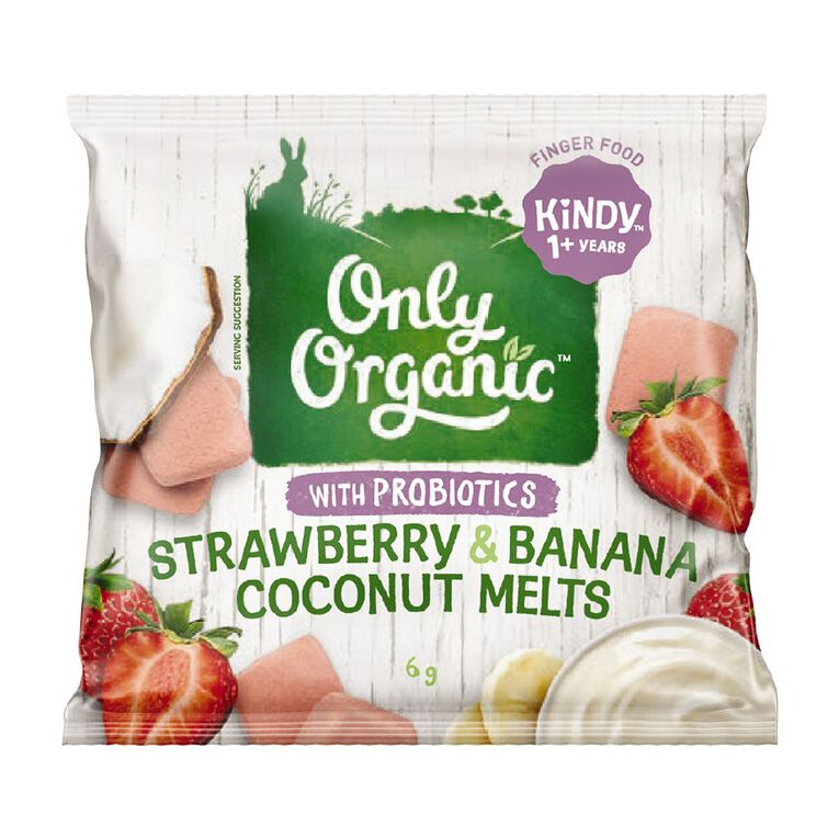 Only Good Only Organic Strawberry & Banana Coconut Yoghurt Melt 6g, , hi-res image number null
