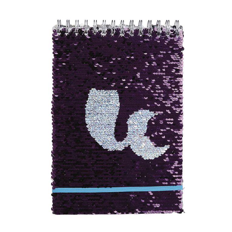 Uniti Fun & Funky Notepad Sequin Silver Grey, , hi-res