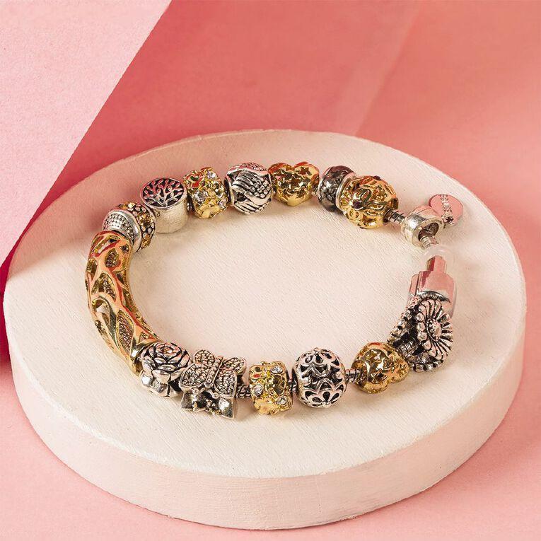Mestige Silver Plated Elemental Bracelet with Swarovski Crystals, , hi-res