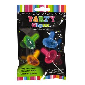 Artwrap Glow Favour Spin Tops 4 Pack
