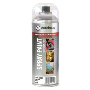 Autohaus Spray Paint Gloss Lacquer Clear 400ml