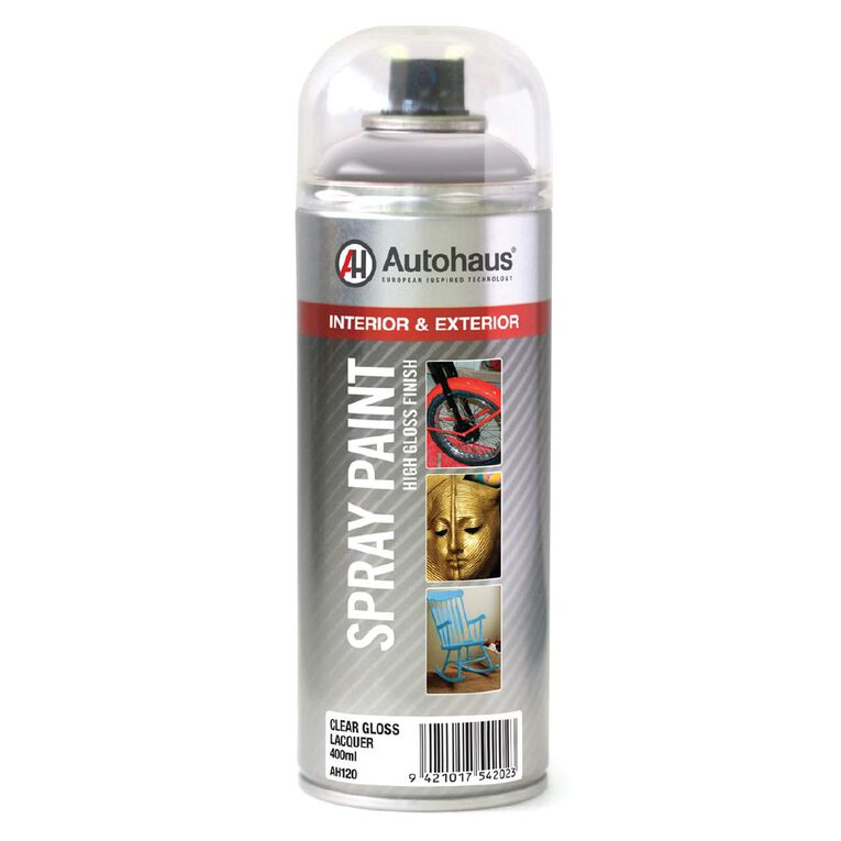 Autohaus Spray Paint Gloss Lacquer Clear 400ml, , hi-res