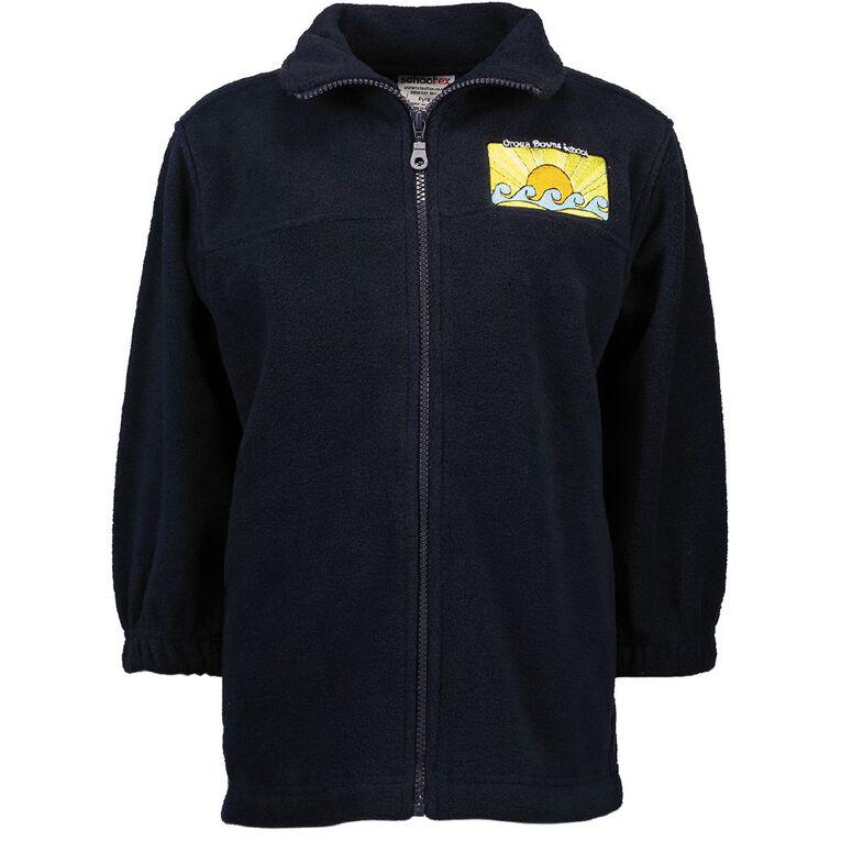 Schooltex Oroua Downs School Polar Fleece Jacket with Embroidery, Navy, hi-res