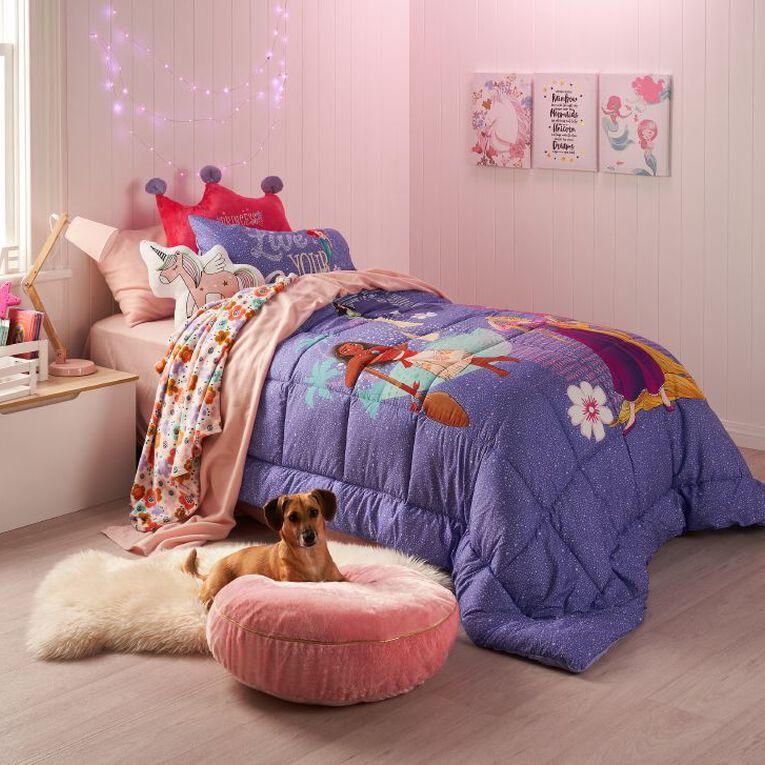 Disney Princess Comforter Set Purple King Single, Purple, hi-res