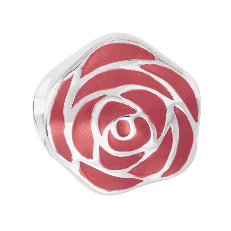 Ane Si Dora Sterling Silver Rose Red Charm, , hi-res