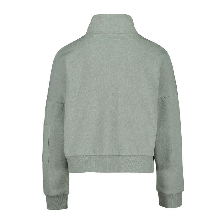 Young Original Funnel Neck Sweater, Blue Light, hi-res