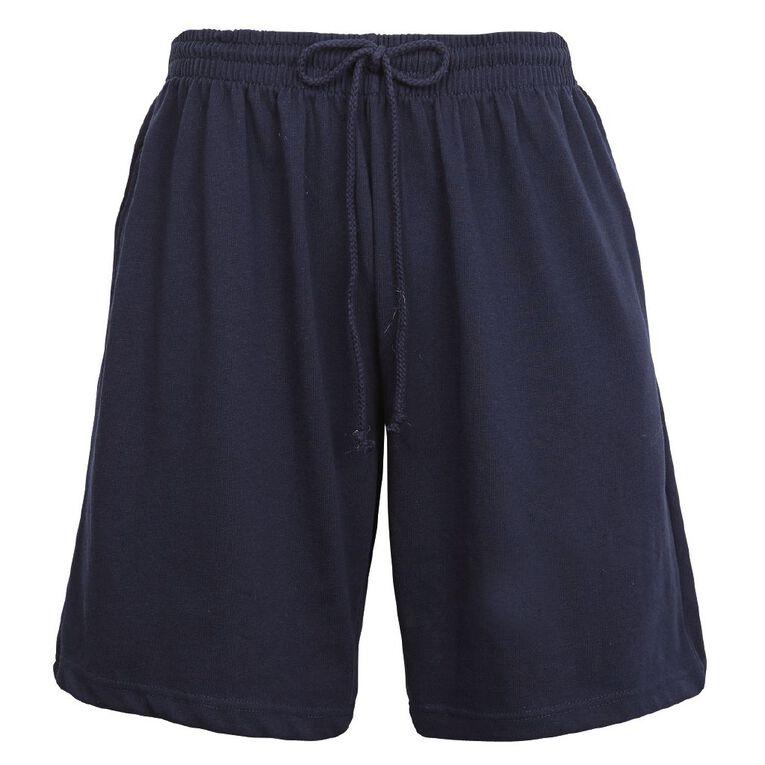 Schooltex Adults' Knit Shorts, Navy, hi-res