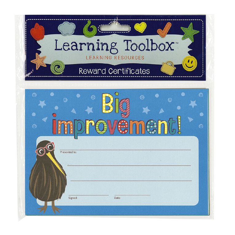 Learning Tool Box Reward Certificates A5 Assorted 30 Pack, , hi-res