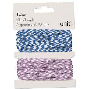 Uniti Twine Blue/purple 2 Pack