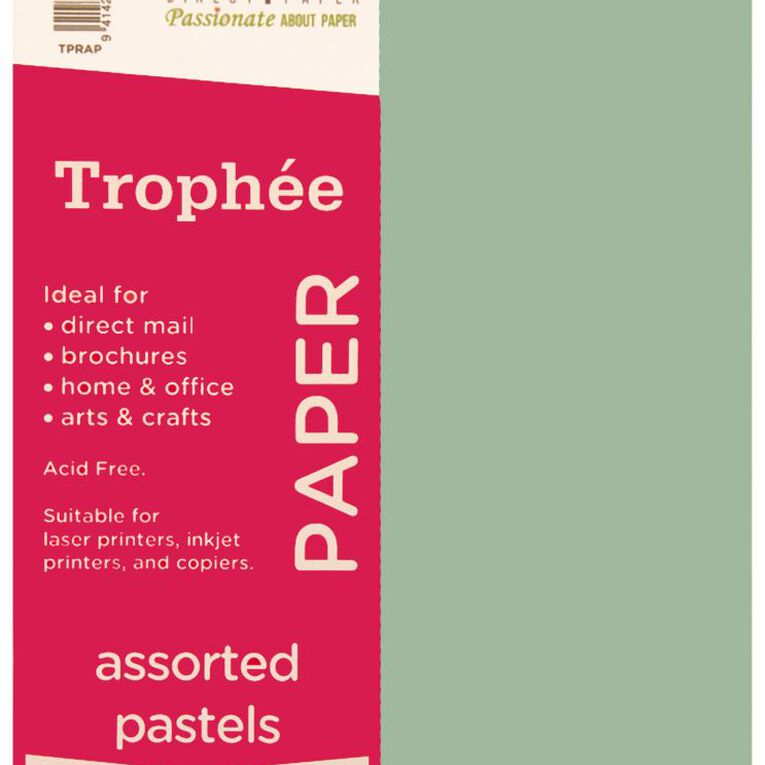 Trophee Paper 80gsm 500 Pack Pastels Assorted A4, , hi-res