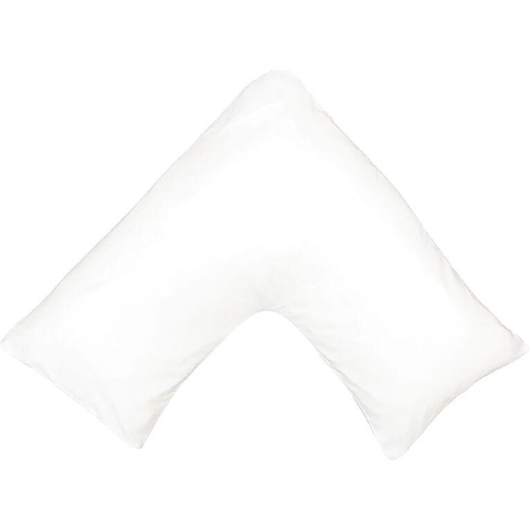Living & Co Pillowcase Tri Microfibre White 76cm, White, hi-res image number null