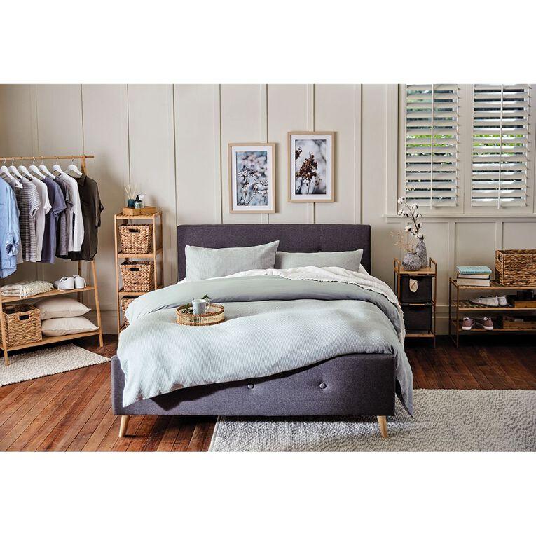 Living & Co Bamboo Garment Rack With 2 Shelves, , hi-res