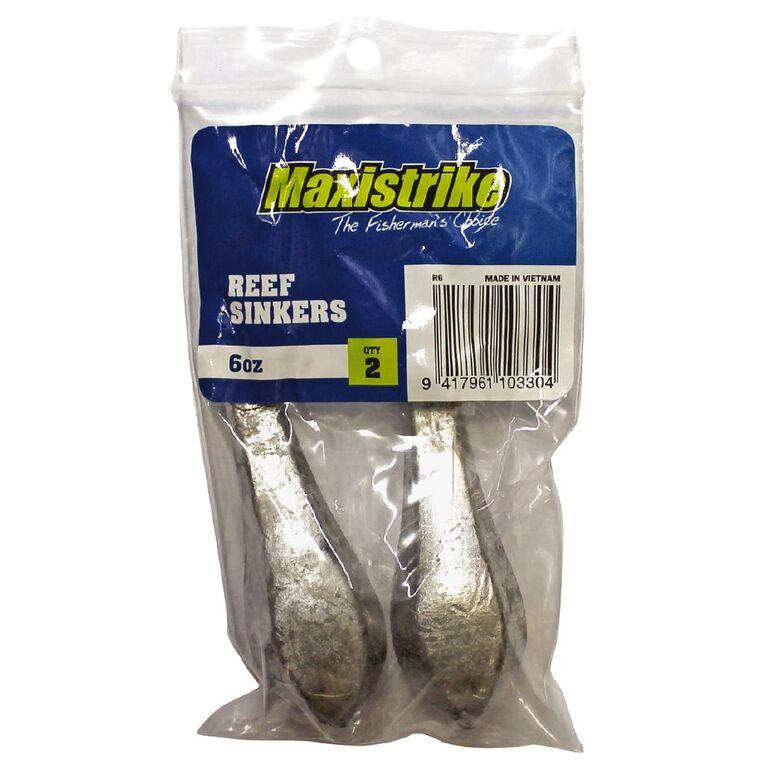 Maxistrike Fishing Sinkers Reef 6 oz 2 Pack, , hi-res