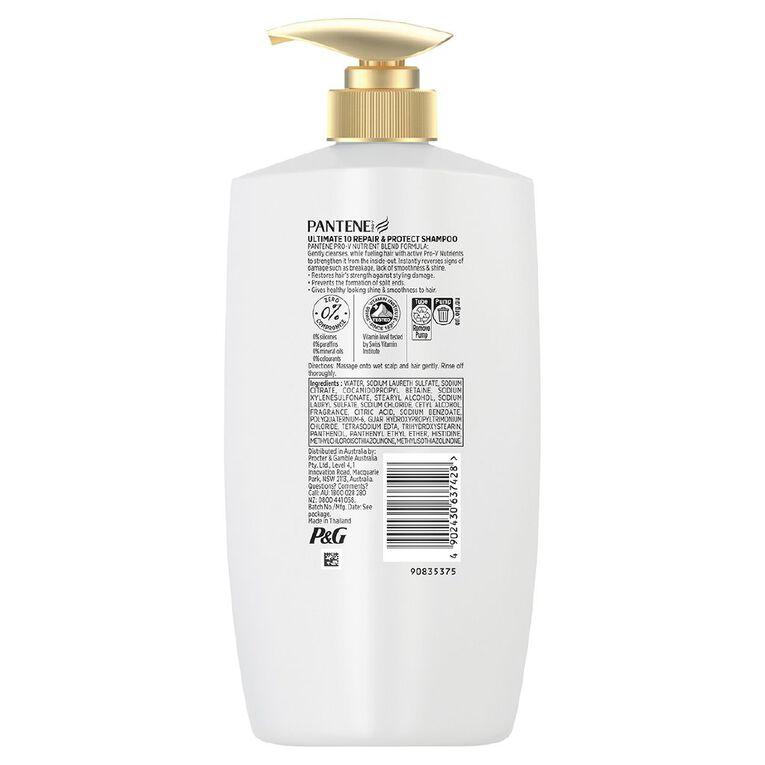 Pantene Ultimate 10 Repair & Protect Shampoo 900ml, , hi-res
