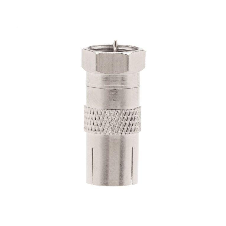 Tech.Inc Coaxial Socket to F Plug Adapter, , hi-res
