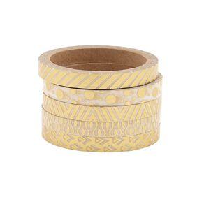 Uniti Washi Tape Thin 5 Pack Gold