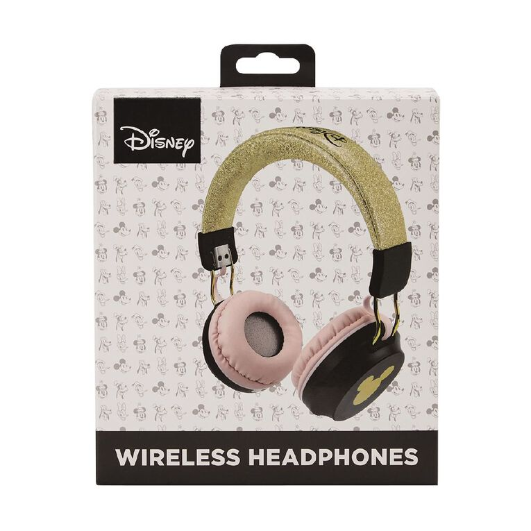 Mickey Mouse Wireless Headphones Pink/ Gold, , hi-res