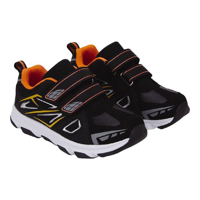 Active Intent Kids' Tag Shoes, Black/Orange W21, hi-res