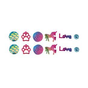 Kids' Love Paw 6 Pair Stud Earrings