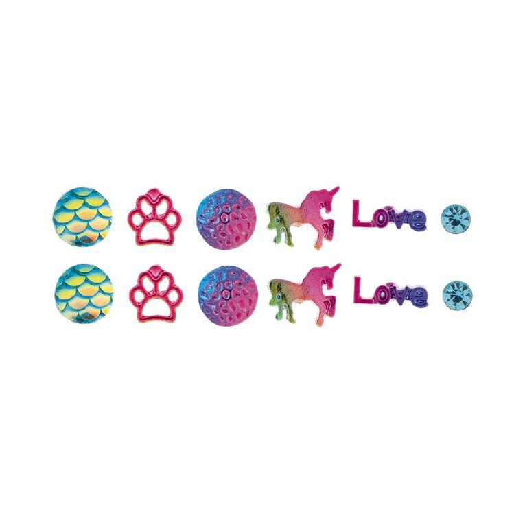 Kids' Love Paw 6 Pair Stud Earrings, , hi-res