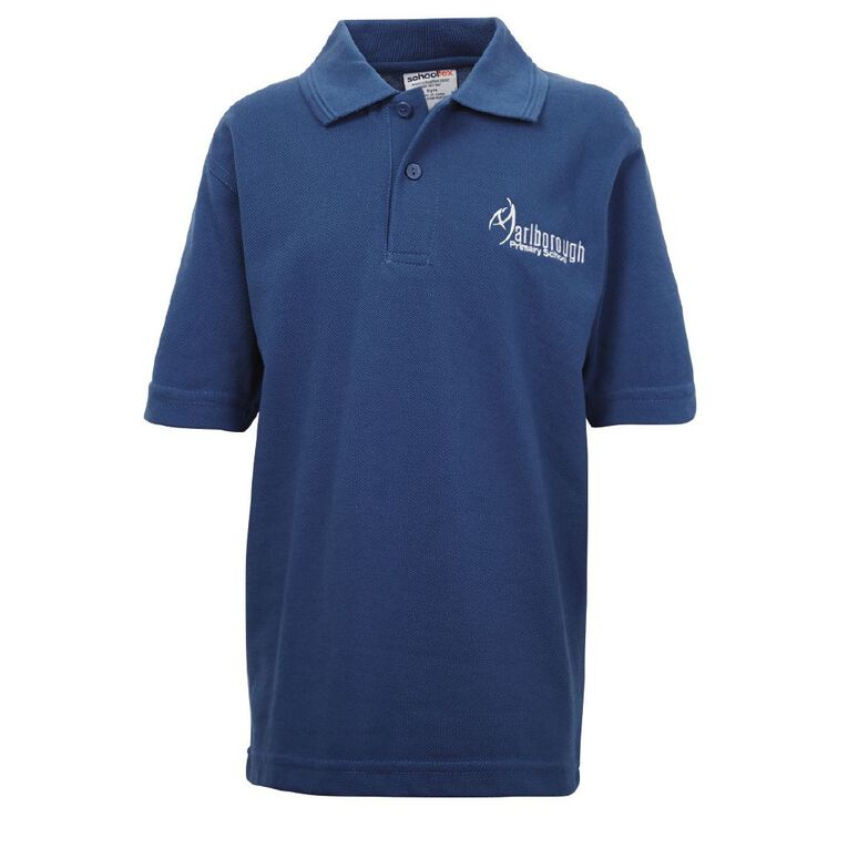 Schooltex Marlborough Short Sleeve Polo with Embroidery, Royal, hi-res
